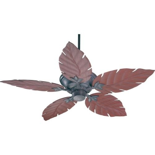 Quorum International 135525-44 Monaco Patio Ceiling Fan with Decorative Rosewood ABS Blades, 52-Inch, Toasted Sienna Finish (Toasted Fan Patio Sienna)