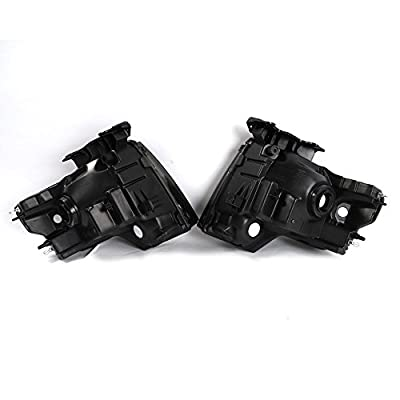 2PC Driver & Passenger Headlights Headlamps Set Replacement fit for 2009 2010 2011 2012 2013 2014 ford F-150 Black: Automotive