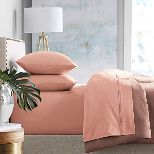 Member's Mark 450-Thread-Count Twin Sheet Set - Coral ()