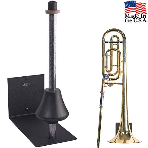 String Swing Trombone Hanger - Flat Wall Holder for All Trombones - Stand Accessories Home or Band Room Studio Wall - Musical Instruments Safe without Hard Cases - Made in USA