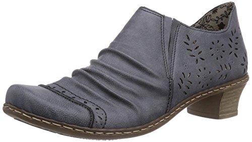 Blau 15 Casa Sintético De Zapatillas 52176 jeans Material Azul Rieker Mujer q1TO8faa
