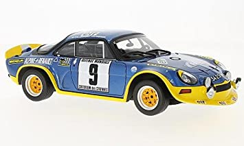 alpine Renault A110 Turbo, No.9, Rally Cevennes, 1972, Model Car