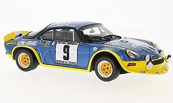 alpine Renault A110 Turbo, No.9, Rally Cevennes, 1972, Model Car