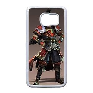 Dynasty Warriors U3R35 Z1Y0BR Funda Samsung Galaxy S6 funda caja del teléfono celular cubren DA7FMP3BT blanco