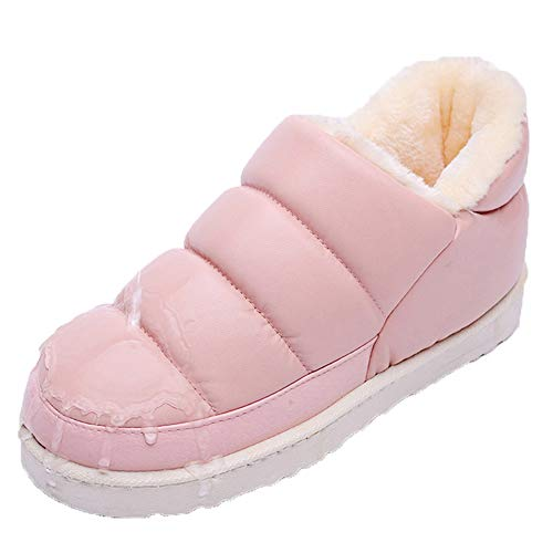 Women Booties Slipper Indoor Outdoor Winter Flats Waterproof Ankle Boots Moccasin by Mtzyoa