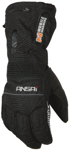 MOBILE WARMING TX Glove Men's Heated Textile Motorcycle Glove (Black, X-Large)