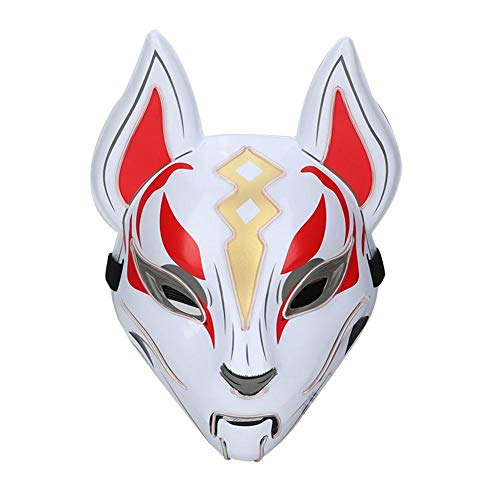 Hearty Full Face Hand-painted Cosplay Fox Mask Pvc Animal Adult Unisex Masquerade Helmet Props Party Halloween Fancy Dress Elegant And Sturdy Package Festive & Party Supplies