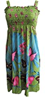 Women's Summer Butterfly Print Beach Casual Sundress