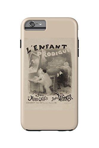 L'Enfant Prodigue Vintage Poster (artist: Willette) France c. 1890 (iPhone 6 Plus Cell Phone Case Cell Phone Case, Tough)