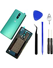 """Eaglewireless Rear Back Glass Housing Cover Replacement with Camera Glass Lens Frame for OnePlus 8 6.55"""", Verizon 5G &T-Mobile 5G (NOT for OnePlus 8 Pro 6.78"""") -Glacial Green"""