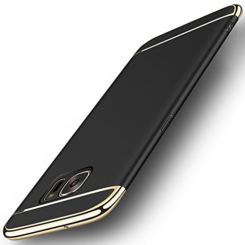 Galaxy S7 Edge Case, NAISU Galaxy S7 Edge Back Cover, Ultra Slim & Rugged Fit Shock Drop Proof Impact Resist Protective Case, 3 in 1 Hard Case for Samsung Galaxy S7 Edge - Black