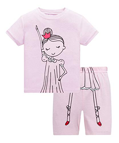 Little Girls Pajamas Kids Short Sets 100% Cotton Children Clothes Toddler Sleepwear 2pcs (Fairy-75 3T)