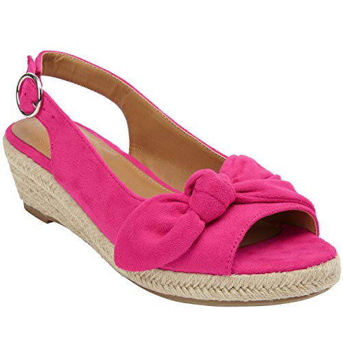 - Comfortview Women's Plus Size The Zanea Espadrille - Vivid Pink, 9 W