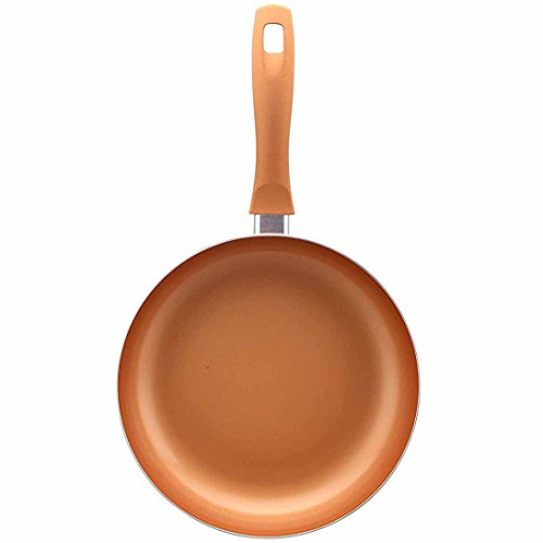 Copper Pan | Copper Frying Pan Set | Non-Stick 9.5-Inch Square And Round Fry Pans | Ceramic Coating | Dishwasher Safe Kitchen Skillet Cookware | Professional Chef Quality - Set of 2