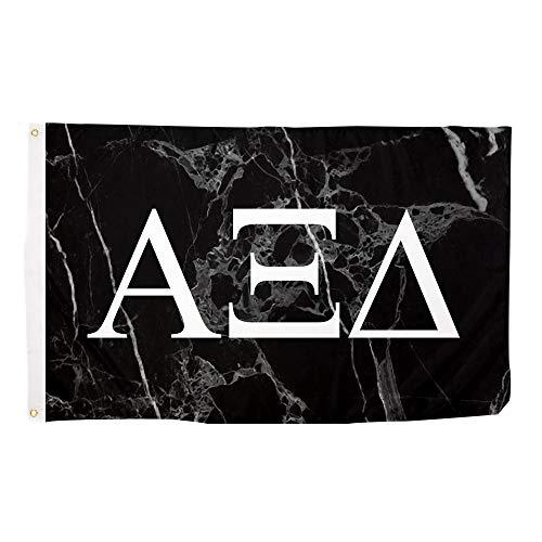 Alpha Xi Delta Dark Marble Sorority Letter Flag Banner 3 x 5 Sign Decor alpha zee