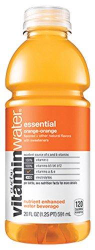 Glaceau Vitamin Water 12-20Floz Bottles (essential orange-orange)