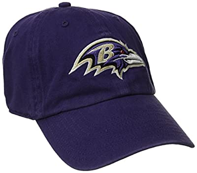 '47 NFL Baltimore Ravens Brand Clean Up Adjustable Hat by 47 Brand