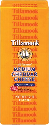 Tillamook, Medium Cheddar Deli Style Loaf, 10 lb