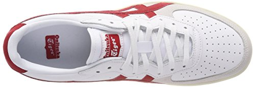 Onitsuka Tiger Unisex-Erwachsene GSM Niedrige Sneaker Multicolore (White/Tandori Spice)