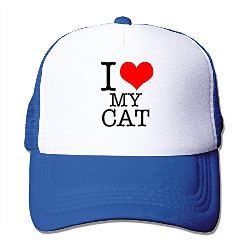 HILLR I Love My Cat Mesh Cap RoyalBlue