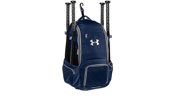 Under Armour Team Shutout Baseball Softball Backpack Midnight Navy-Silver