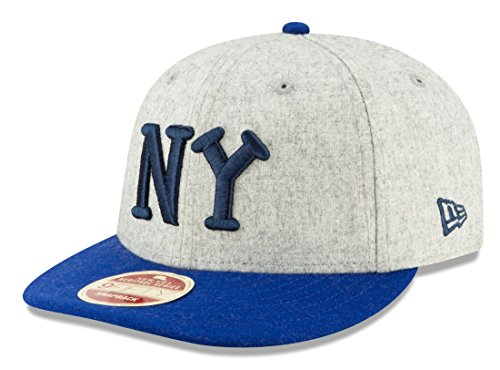 (New Era New York Black Yankees 9FIFTY Negro League Melton Wool Snapback Hat)