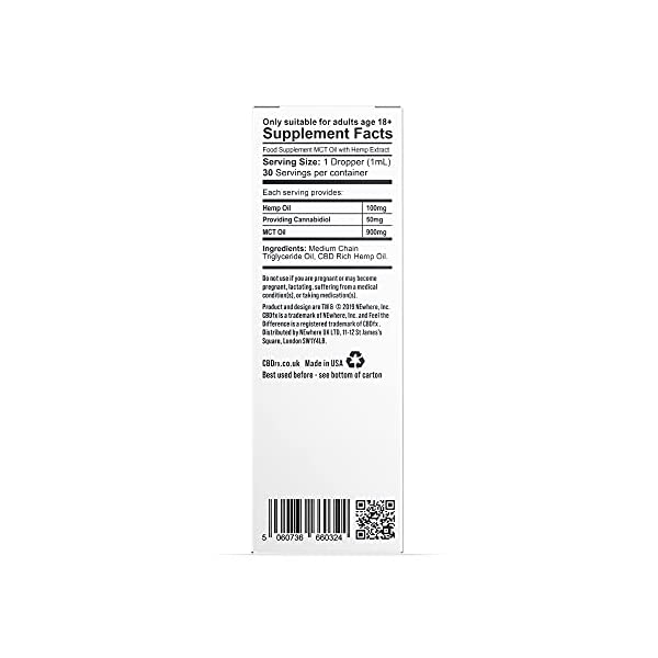 CBDfx High Strength 1500mg Premium CBD Oil Tincture in 30ml Oil Bottle with Droplet, All-Natural, Vegan Friendly CBD Oil Supplement