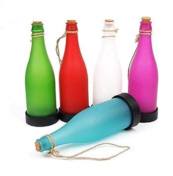 irealist funciona con energía solar lámpara de botella LED luces para colgar para botella de vino