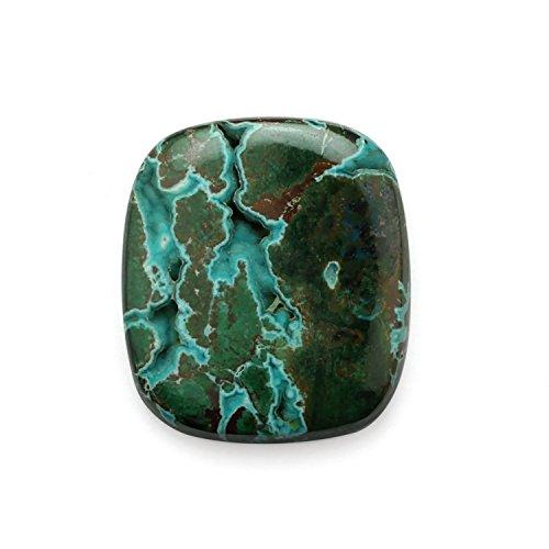 Natural Chrysocolla And Malachite Druzy Gemstone,Octagon Shape flat bottom Semi precious cut Gemstone,Jewelry making Gemstone,33x37 mm, cabochon ,82.20 Ct.B39.