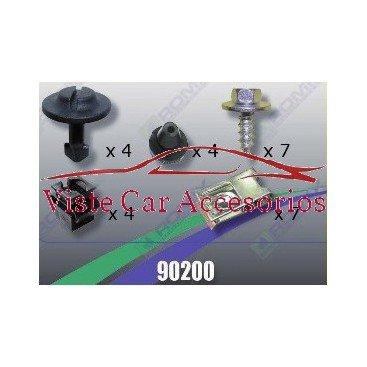 Rezaw - Plast Tornilleria y Clips para Cubrecarter 90200 Rezaw Plast