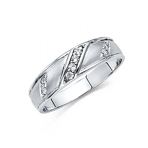 White Gold Solid Mens Wedding product image