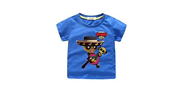 Wadaland Brawl Stars Camiseta Ni/ños Camiseta Brawl Stars para Ni/ño Anime Cartoon Personajes Manga Corta 3D Impresi/ón Games T-Shirt Unisex de Verano Ropa Casual Blusa de Moda Tops Algod/ón Deportivo