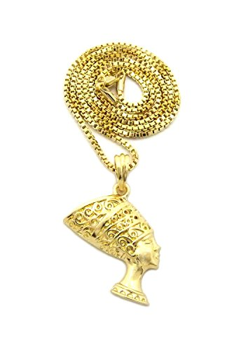 Micro Egyptian Queen Nefertiti Pendant 2mm 24