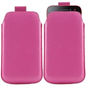 Cerhinu iTALKonline HOT PINK Quality PU Leather Slip Pouch Protective Case Cover with Pull Tab For Sony Ericsson ST21i...