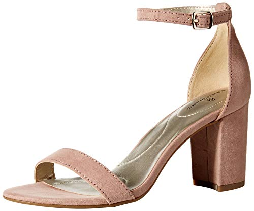 Bandolino Women's Armory Heeled Sandal, Rose, 8 Medium US