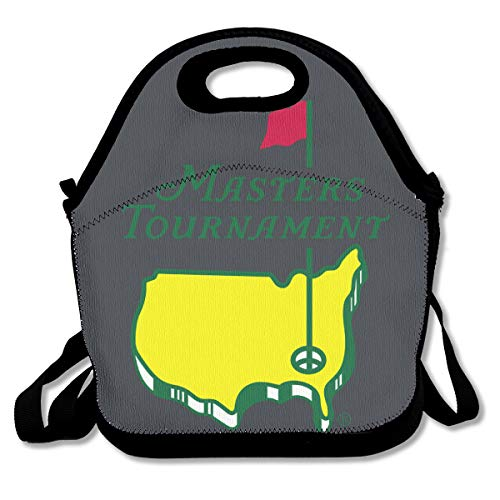Masters Tournament Augusta National Golf Lunch Bags For Men/Women With Shoulder Strap,Durable Insulated Lunch Tote,Reusable Picnic Lunch Bags Boxes Suitable For Students Office Worker
