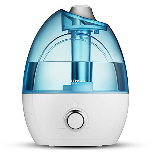 Bartnelli Ultrasonic Cool Mist Humidifier with Ultra-Quiet Operation – 3.5L Tank for Water – 360° Mist Nozzle – Automatic Shut Off – Certified Safety – 7 Color Night Light