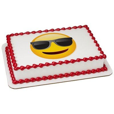 Emoji Sunglasses Edible Icing Image for 1/4 sheet - Sunglasses Images Of