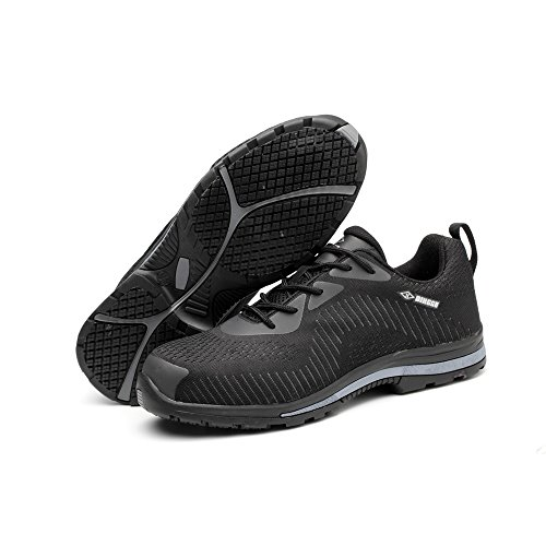 amp;construction proof puncture 04 industrial unisex toe shoes steel shoes Black safety work shoes RqUXZ