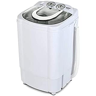 KUPPET Mini Portable Washing Machine for Compact Laundry, 11lbs Capacity, Small Compact Washer with Timer Control Single Translucent Tub(No drying function)