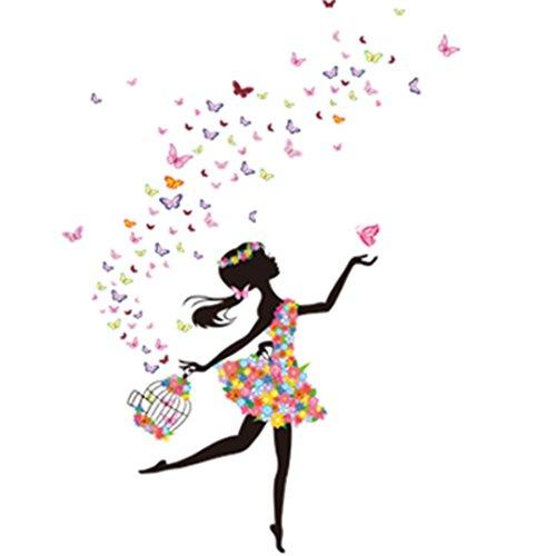 LEERYA New Butterfly Flower Fairy Stickers Bedroom Living Room - John Glasses India Lennon