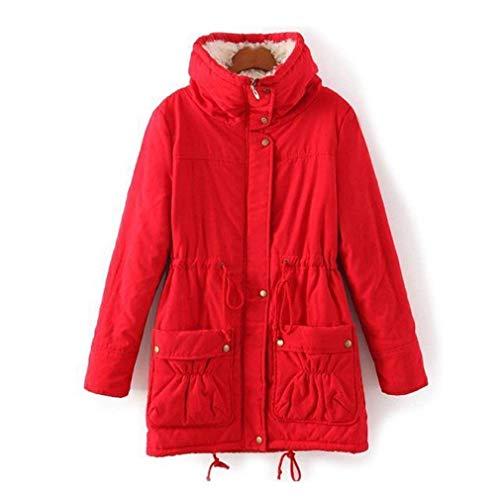 Cappotti Classiche Outerwear Casuale Giaccone Invernali Moda Addensare Rot Giacca Plus Sciolto Donne Collo Coreana Manica Lunga Eleganti Donna Calda Di Prodotto r1ZnPqr