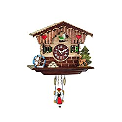 Alexander Taron Decorative Collectibles 0189SQ Engstler Battery-operated Clock - Mini Size with Music/Chimes