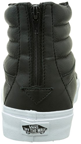 Leather premium Vans Zip Reissue black Adulte Sk8 Noir Mixte White true hi Sneakers Hautes vxvfC6