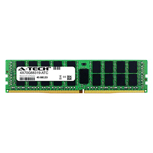 A-Tech 16GB Replacement for Lenovo 4X70G88319 - DDR4 2400MHz PC4-19200 ECC Registered RDIMM 2rx4 1.2v - Single Server Memory Ram Stick (4X70G88319-ATC) ()