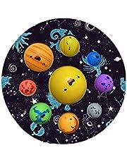 Foruoneis Simple Popper Fidget Dimple bubbelleksaker, Solar Planet System Dimple Figet Tillfredsställande leksaker, stresslindring ångest autism, rolig lätt att bära leksaker för barn (flerfärgad 2, 17 cm x 17 cm)
