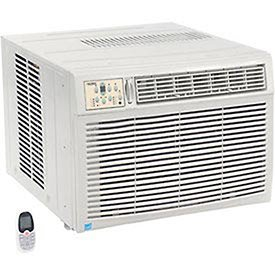 230/208V Window Air Conditioner with Heat, 18, 500 BTU Cool, 16, 000 BTU Heat