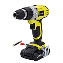 CACOOP Cordless Drill Driver, Variable 2-Speed, Compact, Lightweight, withOne 20V MAX 1.5Ah Lithium Ion Battery Pack and One Rapid Charger, Model:CCD20001L