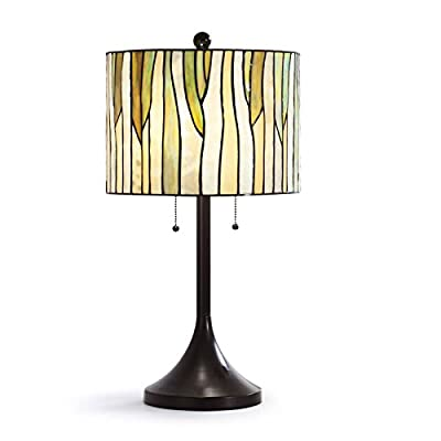 "HomeTREND Barossa 25""H Modern Tiffany Table Lamp - Green"