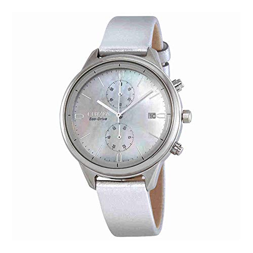 - Ladies' Citizen Eco-Drive Chandler Silver Vegan Leather Watch FB2000-03D